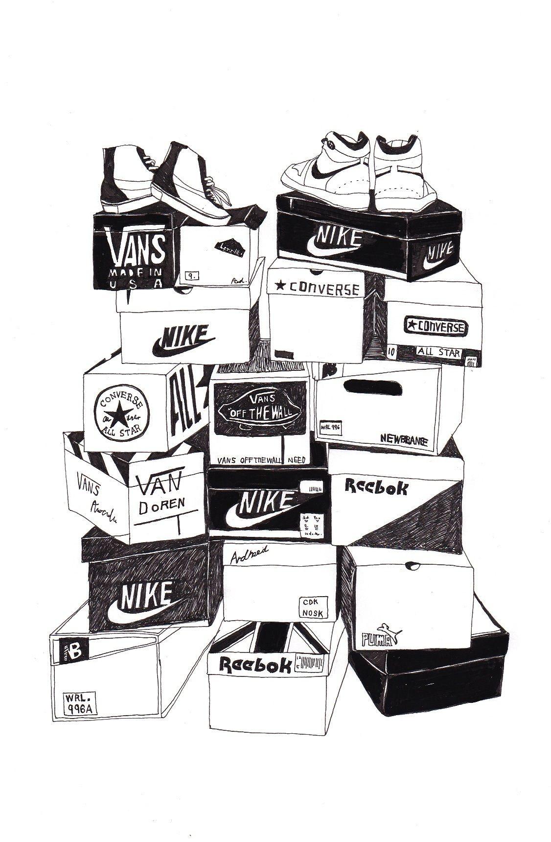 スニーカーim Suppose To Have This Many New Sneakers Now At Walit House Sneaker Art Sneakers Illustration Sneakers Wallpaper