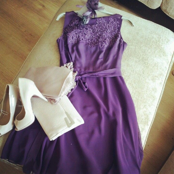 My \'wedding guest\' outfit sorted.. Coast Dress - Grape, Cream/Nude ...
