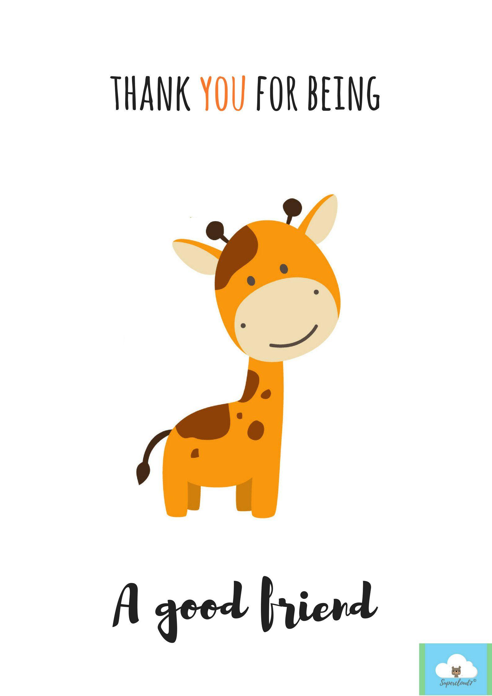 Thank You For Being A Good Friend Digital Card Friendship