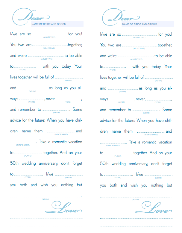 873d61ab4a64 Free Printable Wedding Mad Libs
