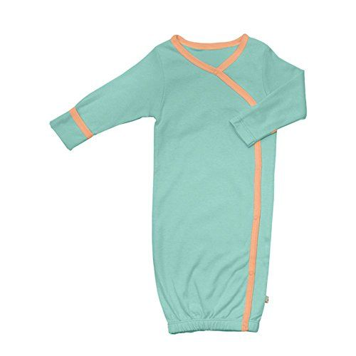 MQBB 2-Pack Organic Cotton Baby Summer Sleep Gown Soft Lightweight No-Scratch Mittens Nightgowns