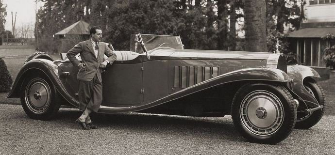 bugatti royale typ 41 roadster (1932) commissionedbelgian born