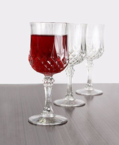 d8f8a163e3c Simcha Collection Looks like Crystal Plastic Wine Glasses ...