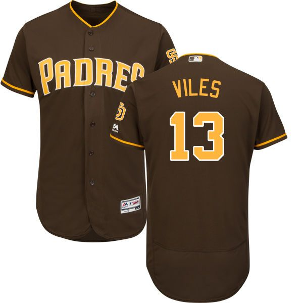 9a5b68e7c08 Men s San Diego Padres Majestic Brown Alternate Flex Base Authentic  Collection Custom Jersey