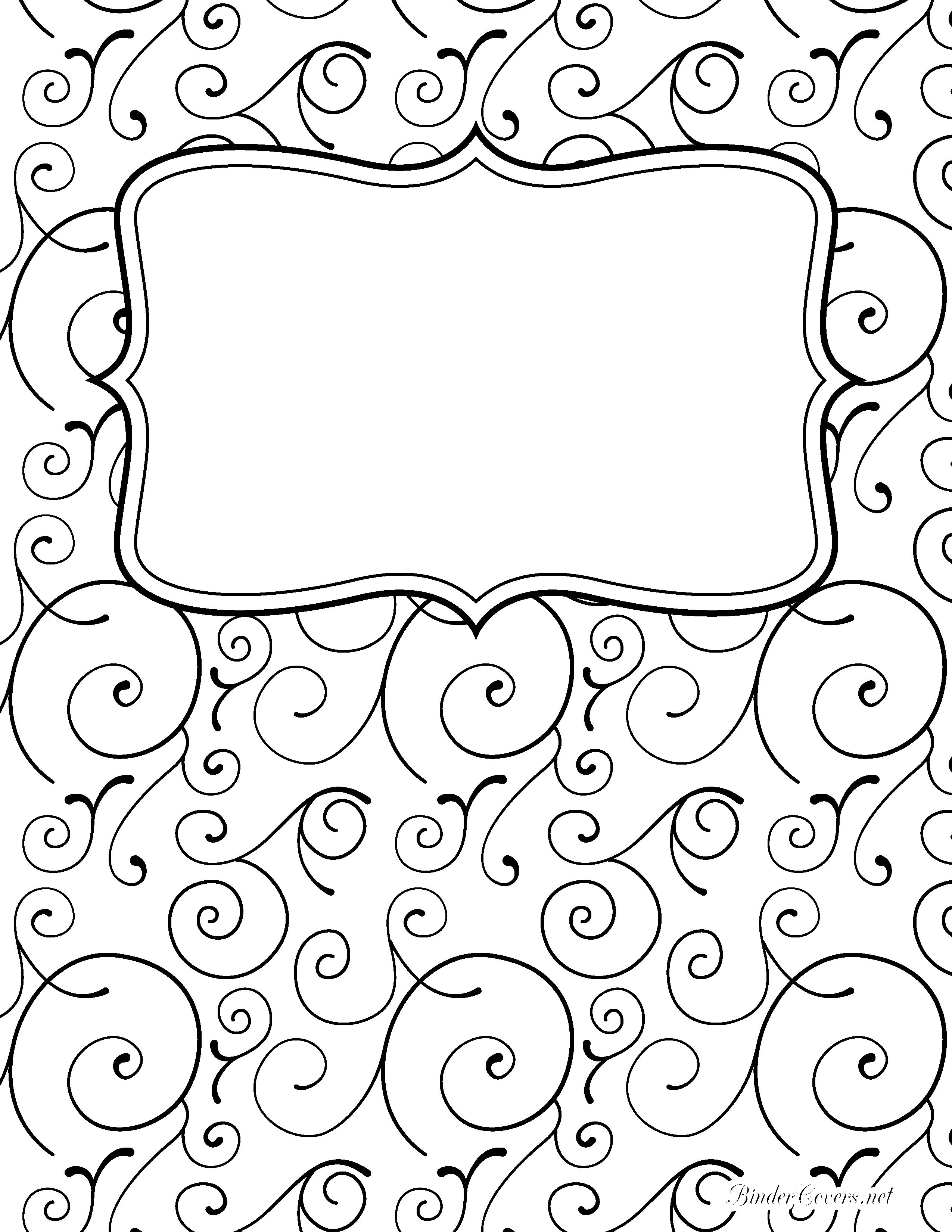 binder cover templates black and white - Vaydile.euforic.co