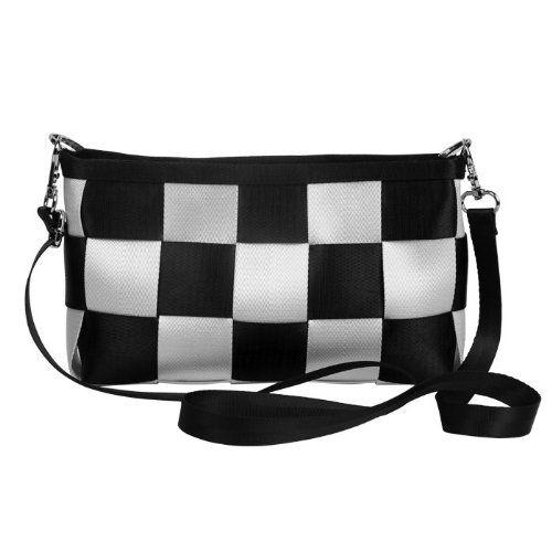 Ecosusi Fashion Seatbelt Messenger Bag Designer Shoulder Bags Evening Bag Purse (Black & White) Ecosusi,http://www.amazon.com/dp/B00BMNNBSW/ref=cm_sw_r_pi_dp_FdWvtb1GSSRQMGV6