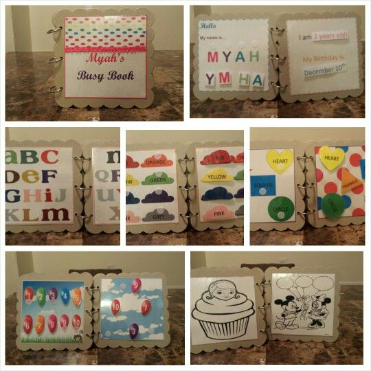 Diy Busy Book For 2 Year Old Toddler I Did It Diy