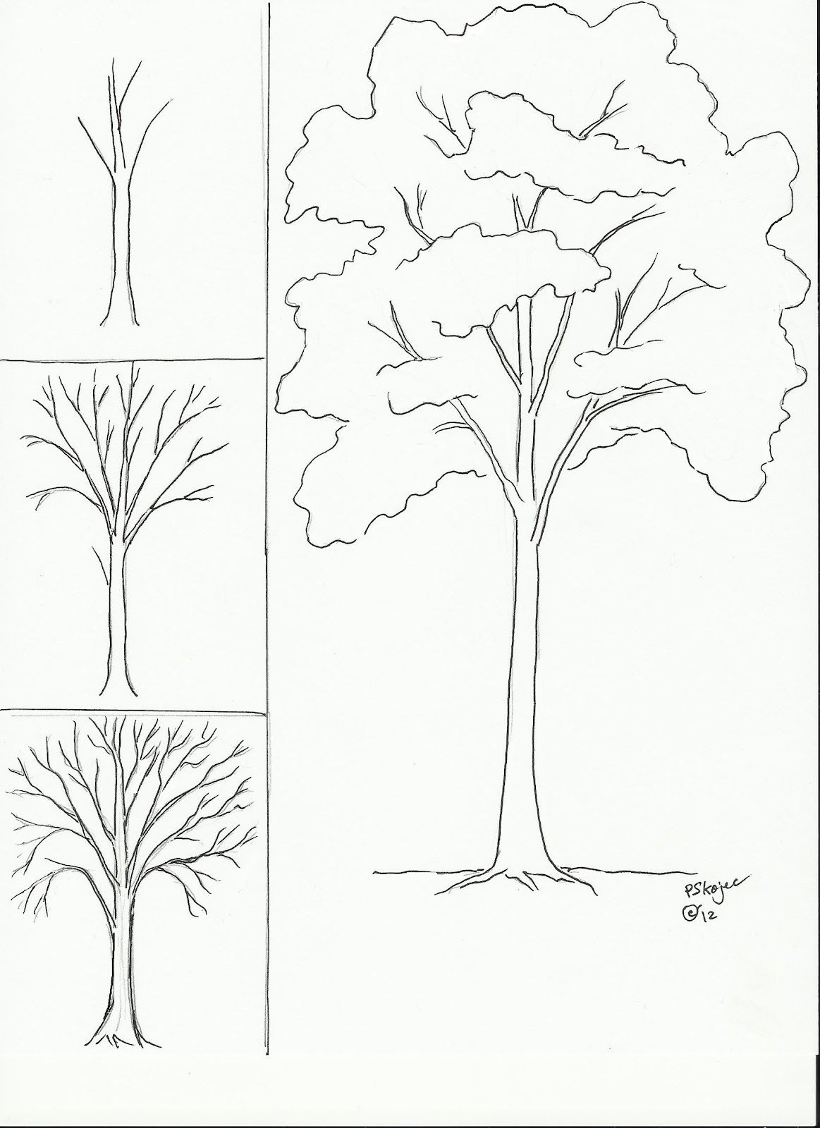 Uncategorized How To Draw Leaves On A Tree draw a tree art class ideas fontscalligraphy designs ideas