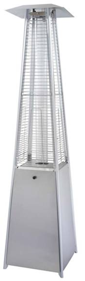 quartz glass tube stainless steel heater flames shoot up the