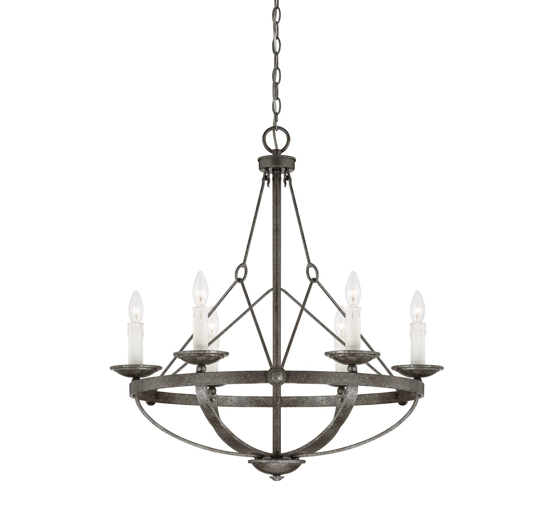 From the Savoy House Epoque collection, this 6-light chandelier ...