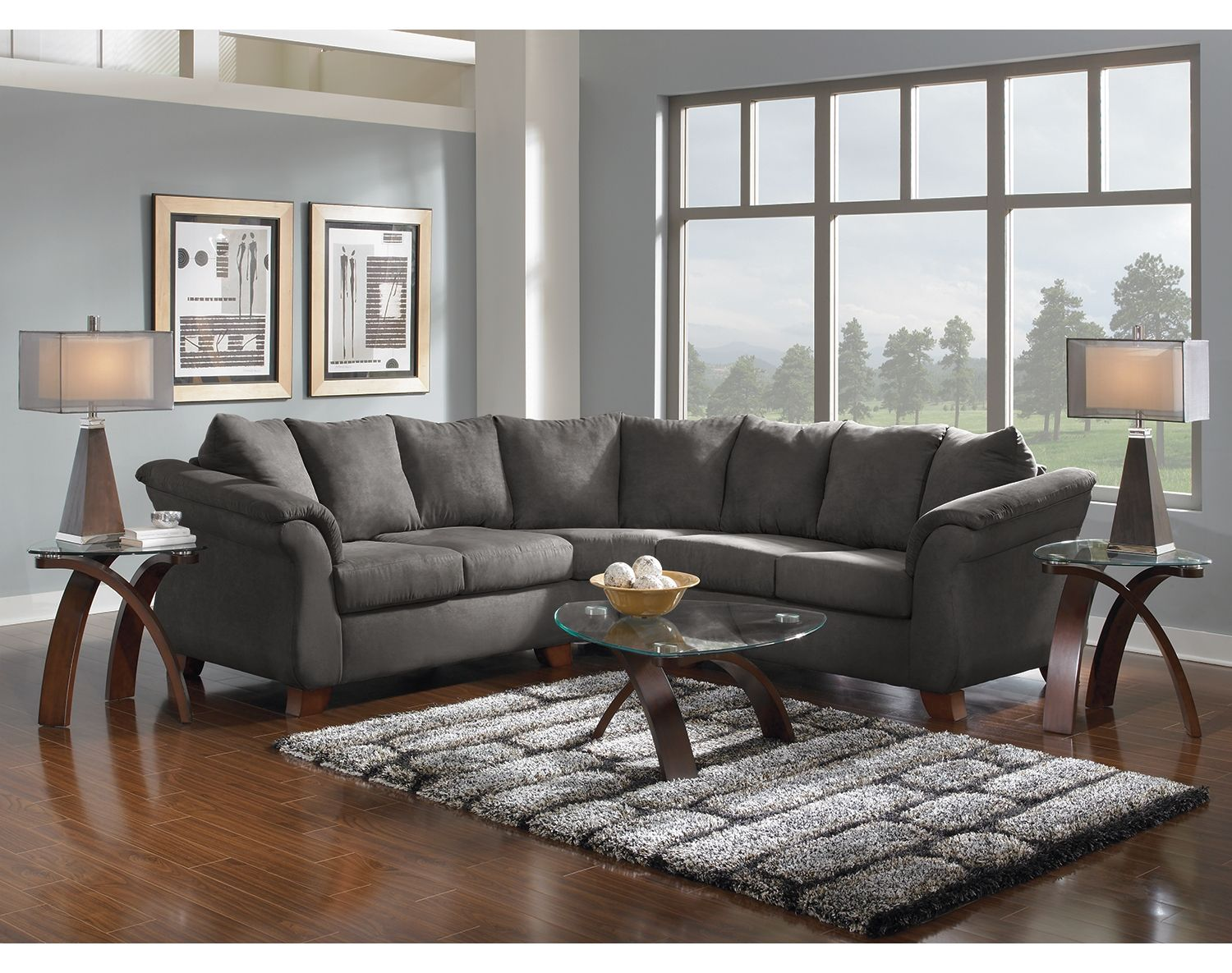 The Adrian Graphite Ii Collection Living Room Leather Leather Living Room Set City Furniture