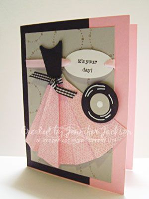 Dress Card by jenniferstamp04 Cards and Paper Crafts at