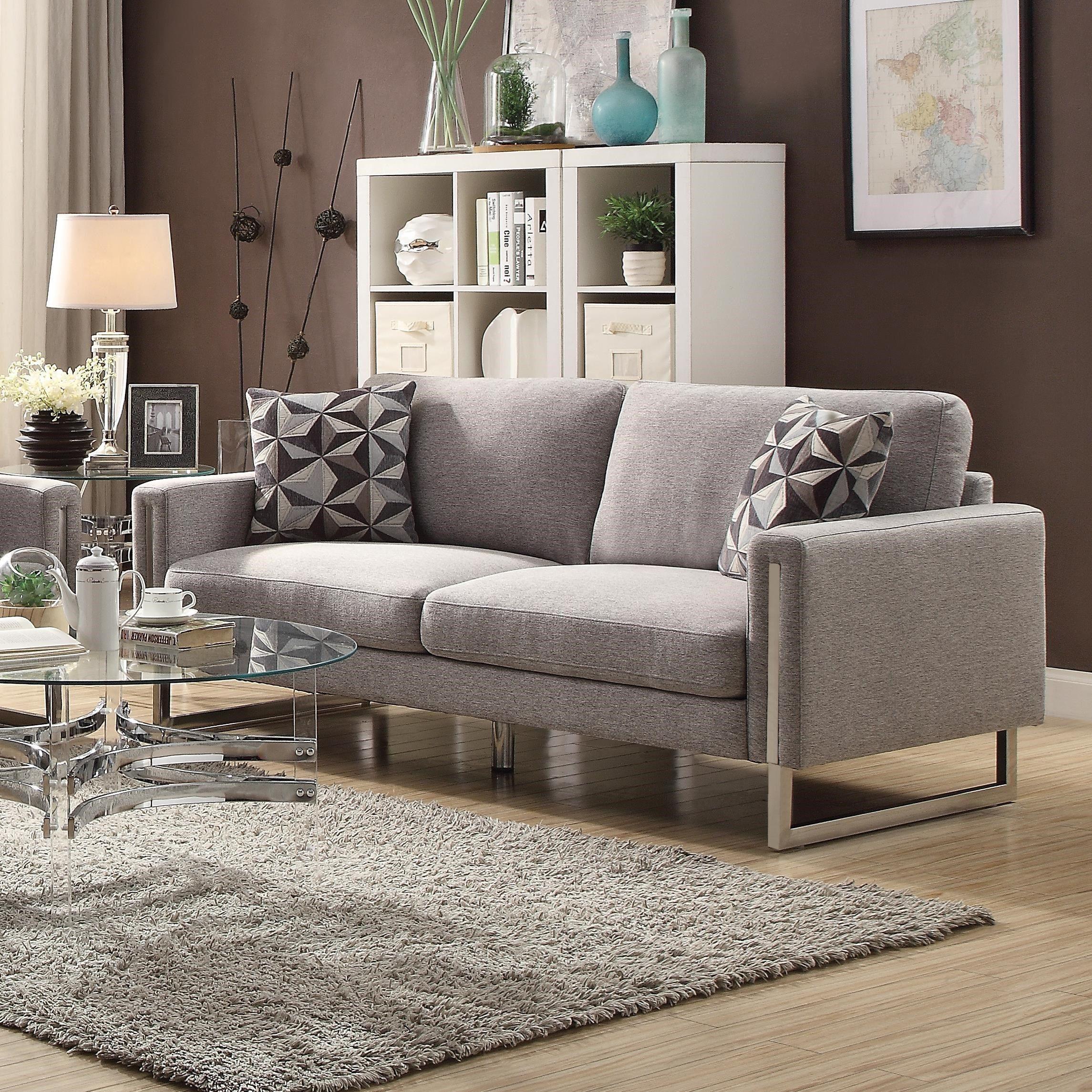 Wondrous Coaster Stellan Modern Sofa With U Shaped Steel Legs Unemploymentrelief Wooden Chair Designs For Living Room Unemploymentrelieforg