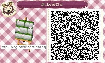 Animal Crossing: New Leaf QR Code Paths Pattern, chewwycrossing:  by 레냐혀니