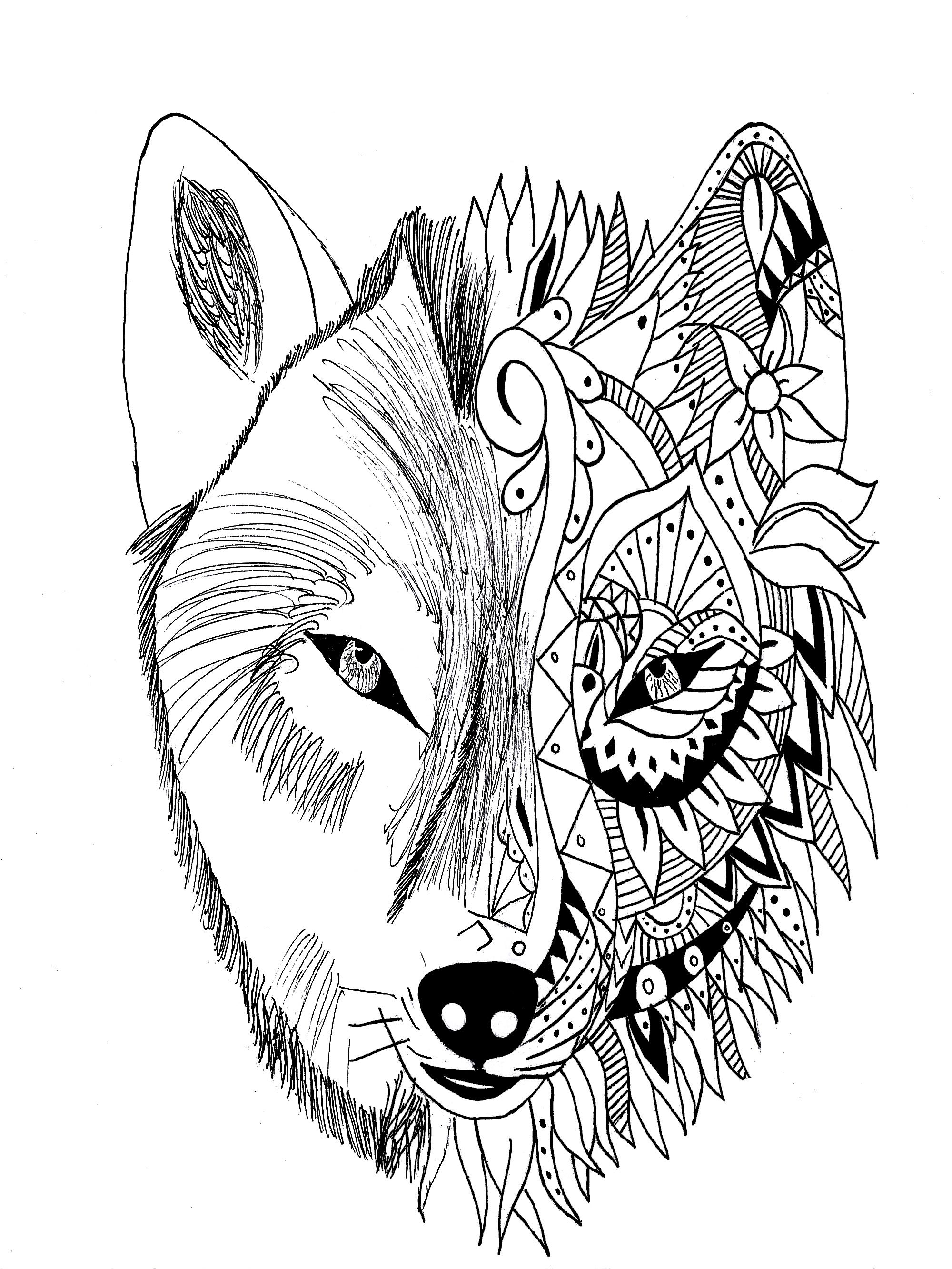 Colorear para adultos | JustColor : Tatuajes - 28 - Esta imagen ...