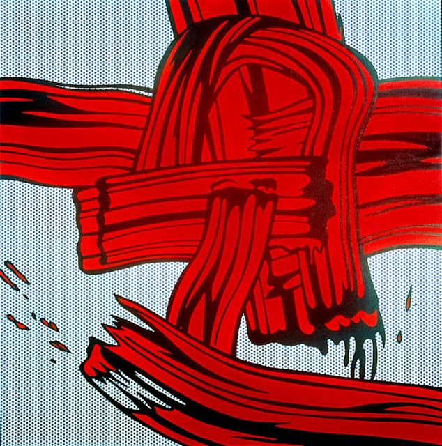 Roy Lichtenstein - Red Painting (Brushstroke) (1965)