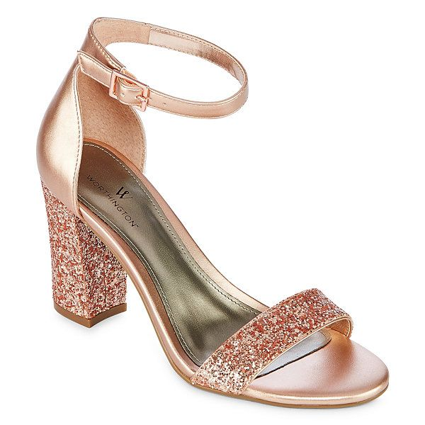 ede68795c Worthington Beckwith Womens Heeled Sandals - JCPenney Pink Prom Shoes
