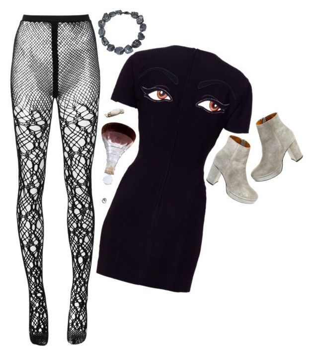 College age art gal at her first gallery show by bansheebeat on Polyvore featuring Moschino, Tricot Comme des Garçons, Madewell, ASOS and Religion Clothing