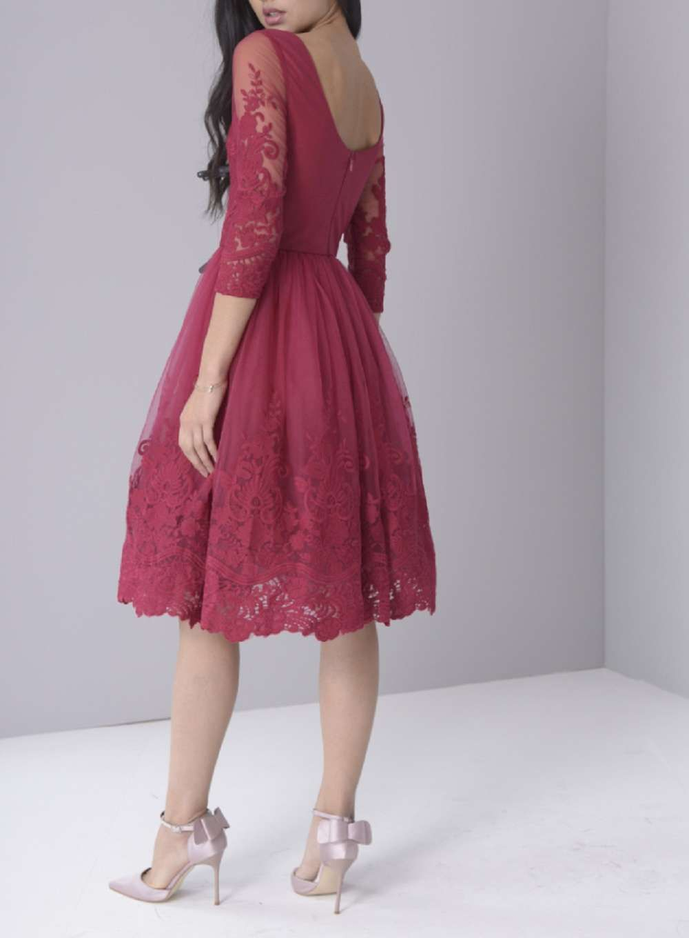 Chi chi london berry sleeve prom dress pinterest chi chi
