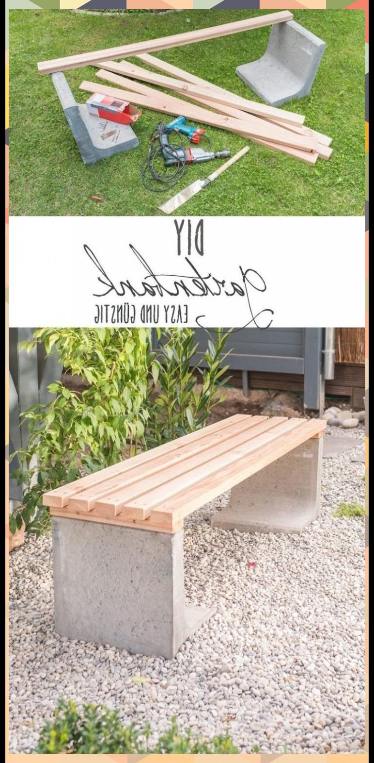 Diy Gartenbank Mit Beton Und Holz My Blog Diy Gartenbank