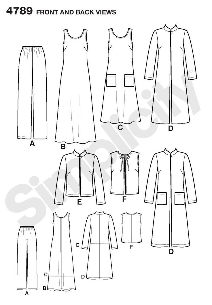 Womens and Plus Size Pants, Vest Sewing Pattern 4789 Simplicity ...