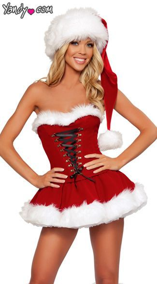 Christmas costume Holiday Skirts, Holiday Dresses, Holiday Outfits,  Christmas Dresses, Christmas Clothing - Christmas Costume Sexy Santa Girls Pinterest Christmas