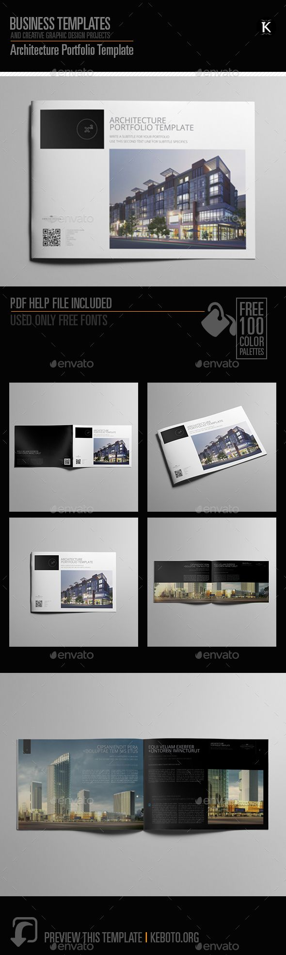 Architecture Portfolio Template | Fonts-logos-icons | Pinterest
