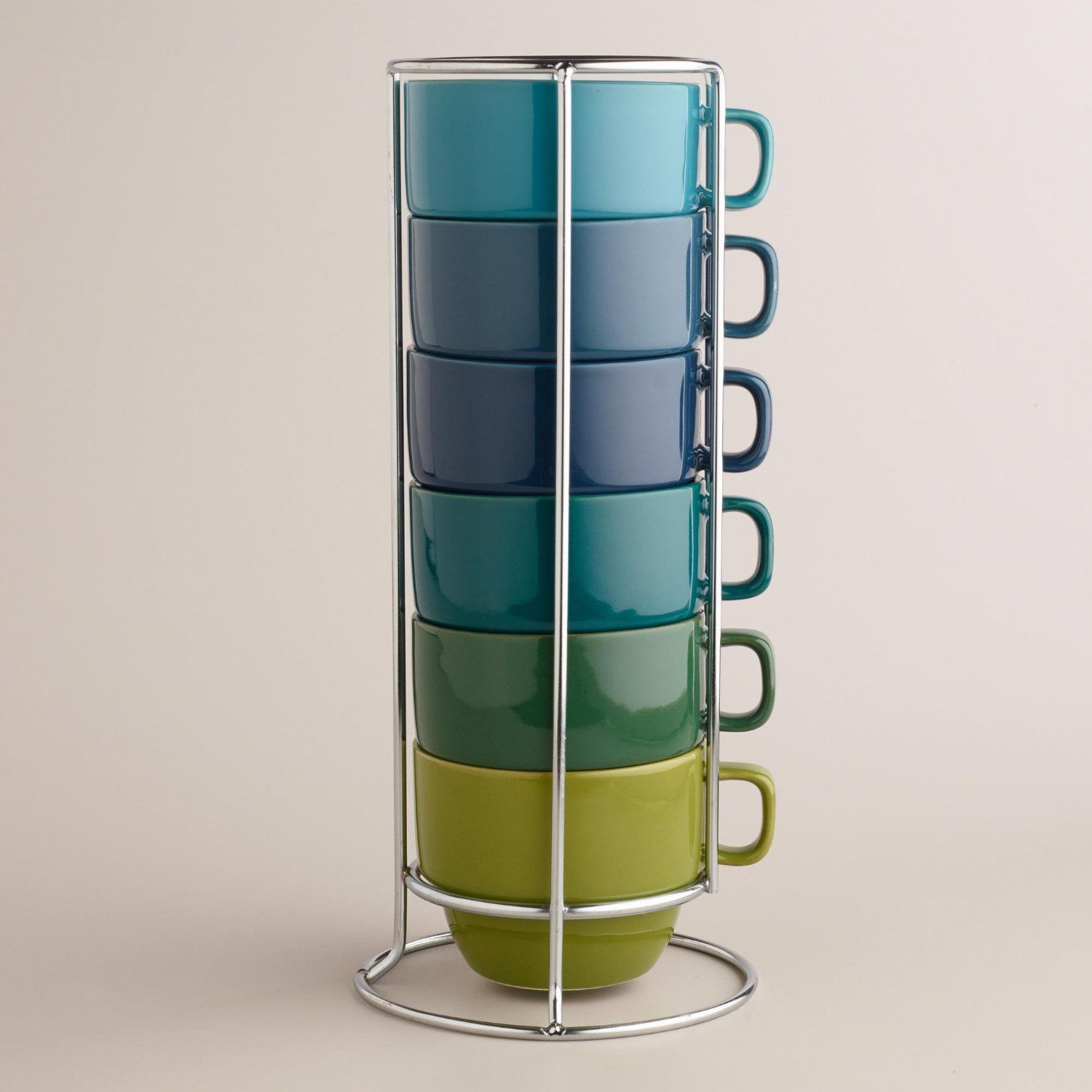 Space Saving Stacking Mugs are Attractive and Practical
