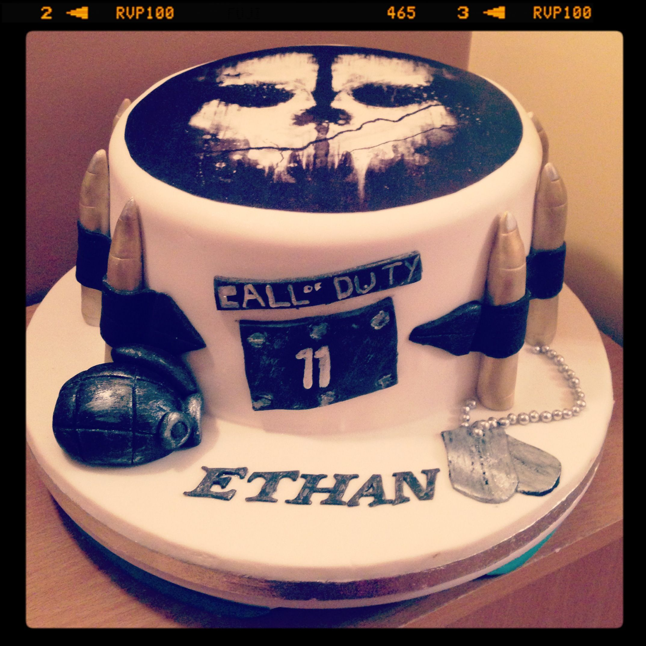 Call of Duty Ghost Birthday Cake | Flickr - Photo Sharing! | Cakes ...