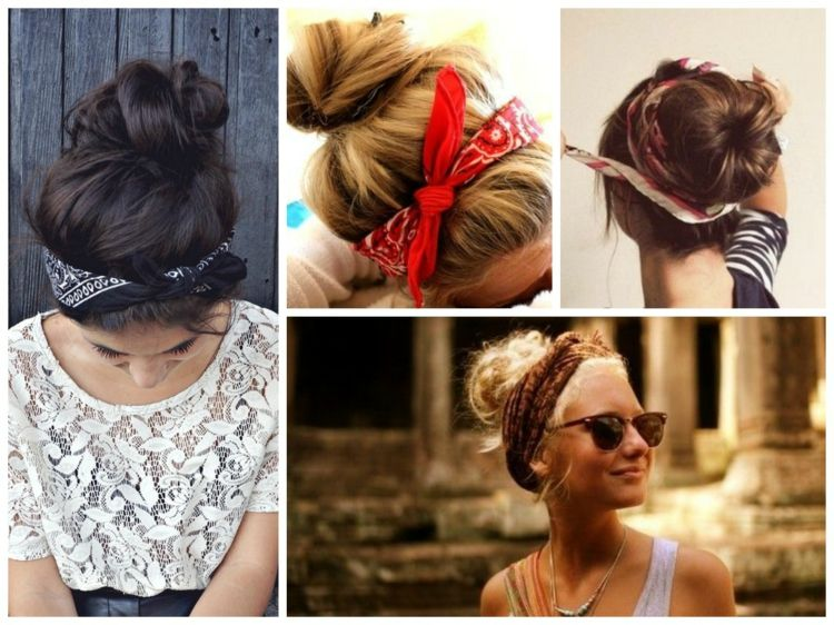 coiffure avec un bandana cheveux coiffures cool et tutoriels wow pinterest bandana. Black Bedroom Furniture Sets. Home Design Ideas