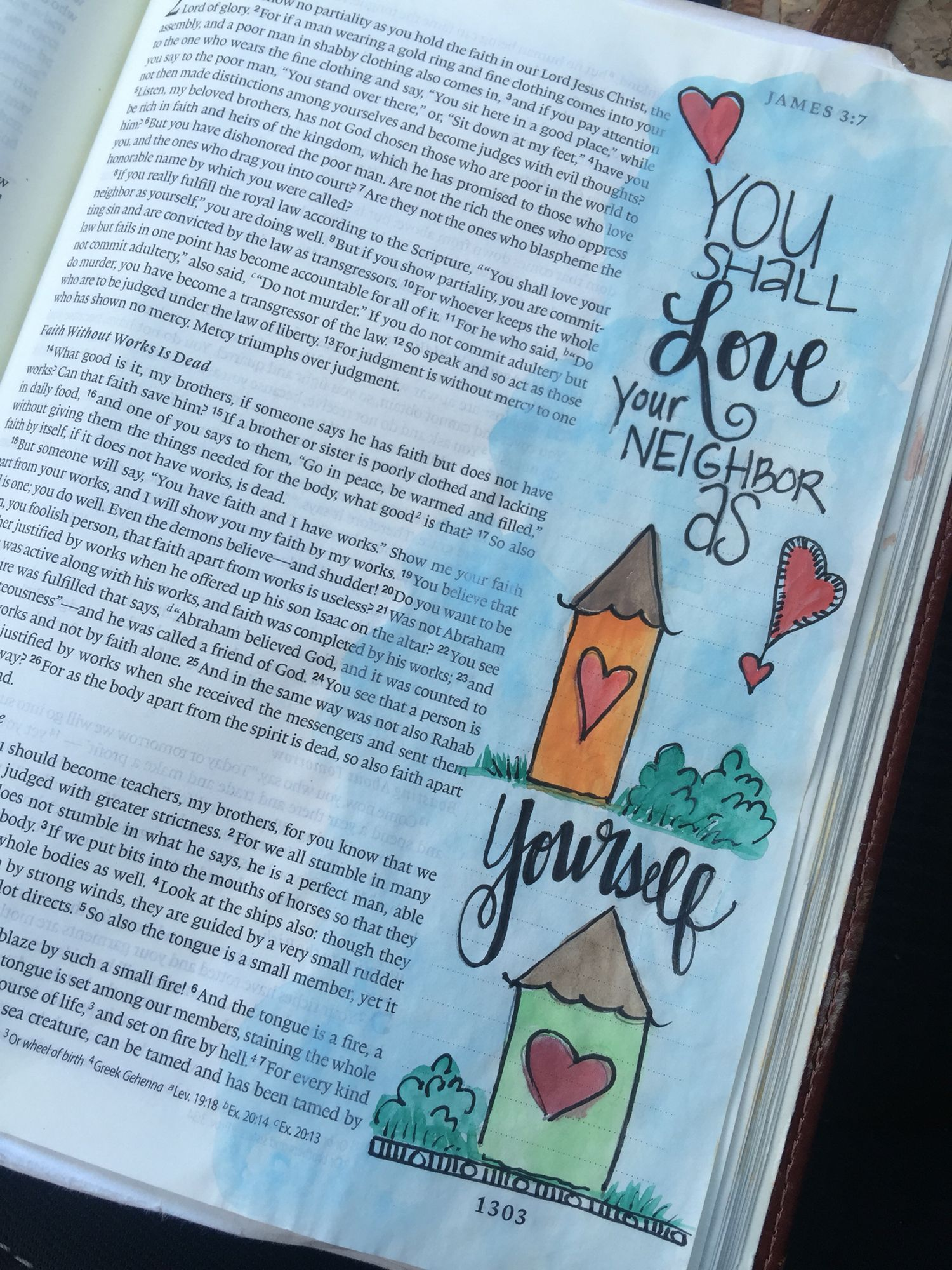 Love your neighbor as yourself | My Journaling Bible | Bible