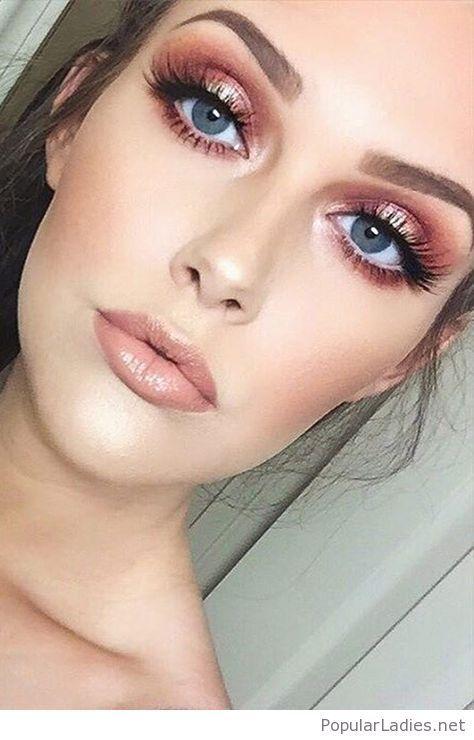 Pink Nude Makeup For Blue Eyes Beauty Pinterest Makeup Makeup