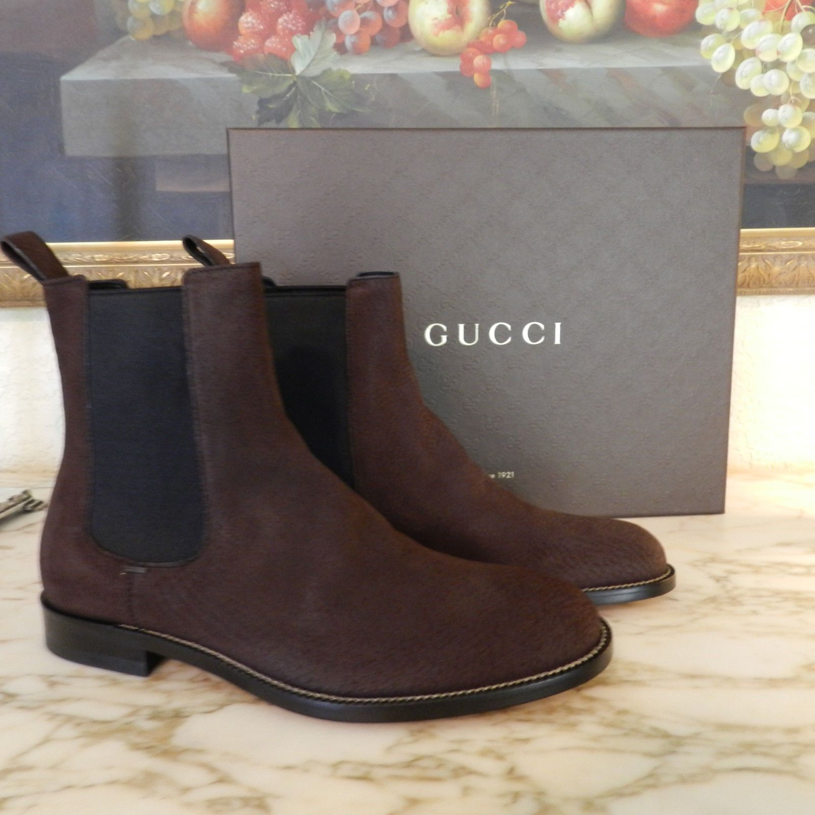 Gucci is a worldwide legend in designer fashion for men, renowned for its quality, prestige, and Italian legacy. With timeless style & iconic appeal, this suede leather boot will take your style to new heights. Check them out here at http://www.ebay.com/itm/191272198517?ssPageName=STRK%3AMESELX%3AIT&_trksid=p3984.m1555.l2649