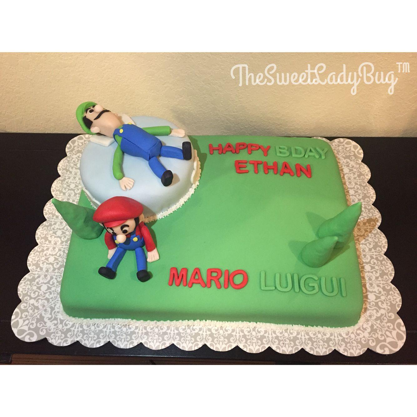 Mario and Luigui Cake