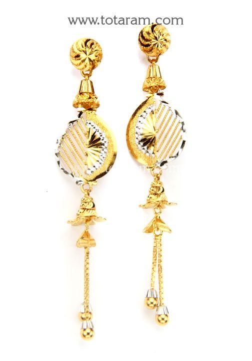 22K Gold Fancy Ear Hangings Gold Pinterest