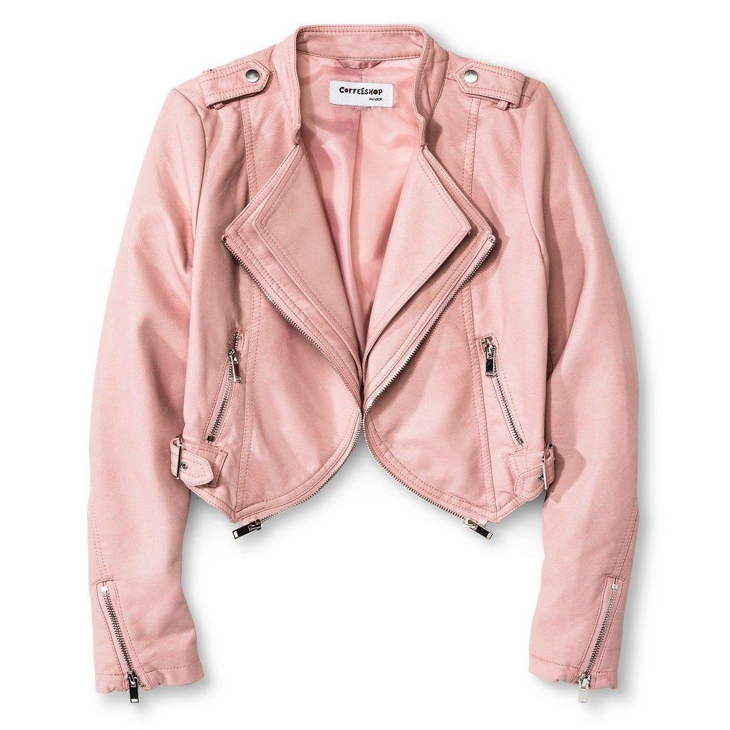 935252ddea83 Little Girls Pink Leather Jacket