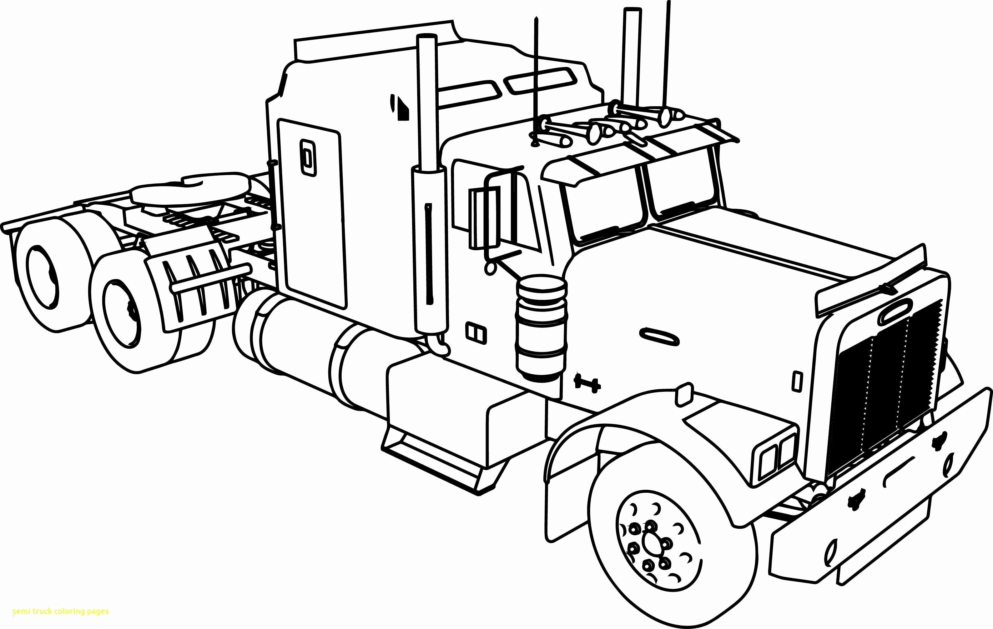 Truck Coloring Pages Free Elegant Semi Truck Coloring Pages Album