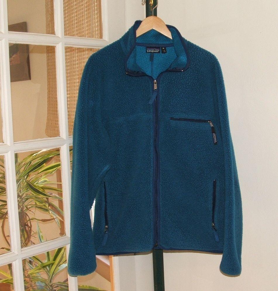 Patagonia retro x cardigan jacket menus xl fleece coat vintage