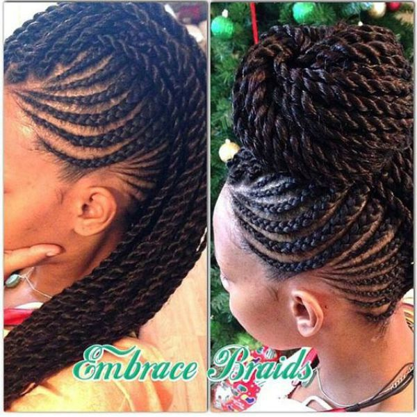 Latest Cornrow Braids Updo Hairstyles For Black Women 2016 Style In Hair Natural Hair Styles Braided Hairstyles Hair Styles
