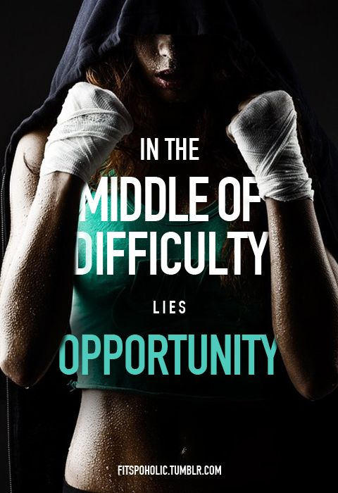 In the middle of difficulty lies opportunity quotes quote fitness workout  motivation exercise work hard motivate workout motivation exercise  motivation ...