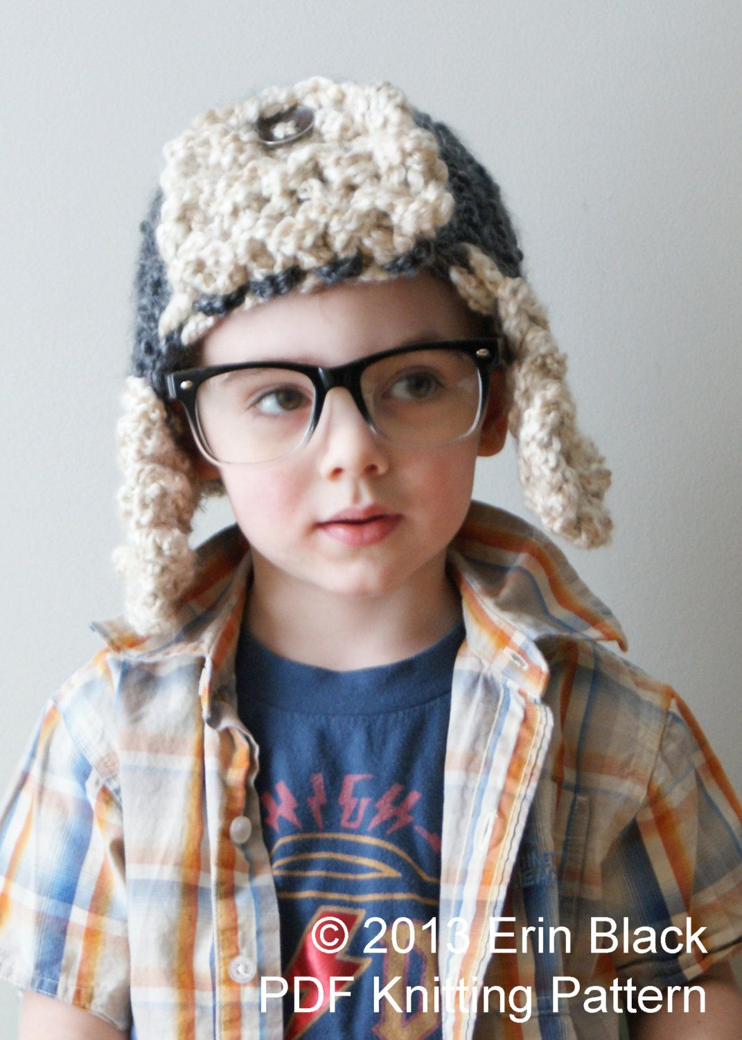 Knitting PATTERN - Chunky Bomber Hat in Toddler, Child and Adult Sizes (hat010). $5.50, via Etsy.
