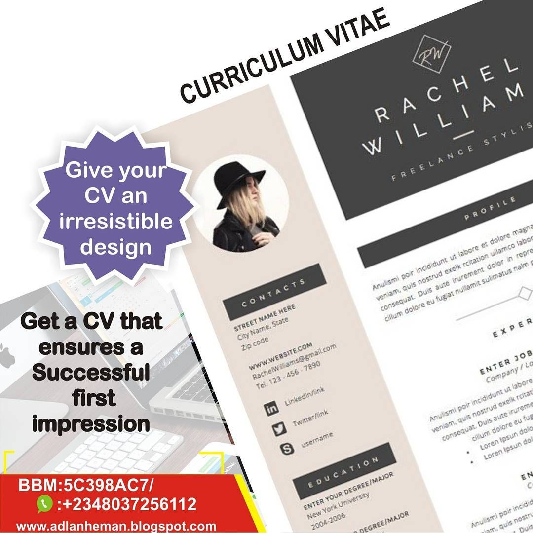 Give Your Cv An Irresistible Design And Got The Job   Contact