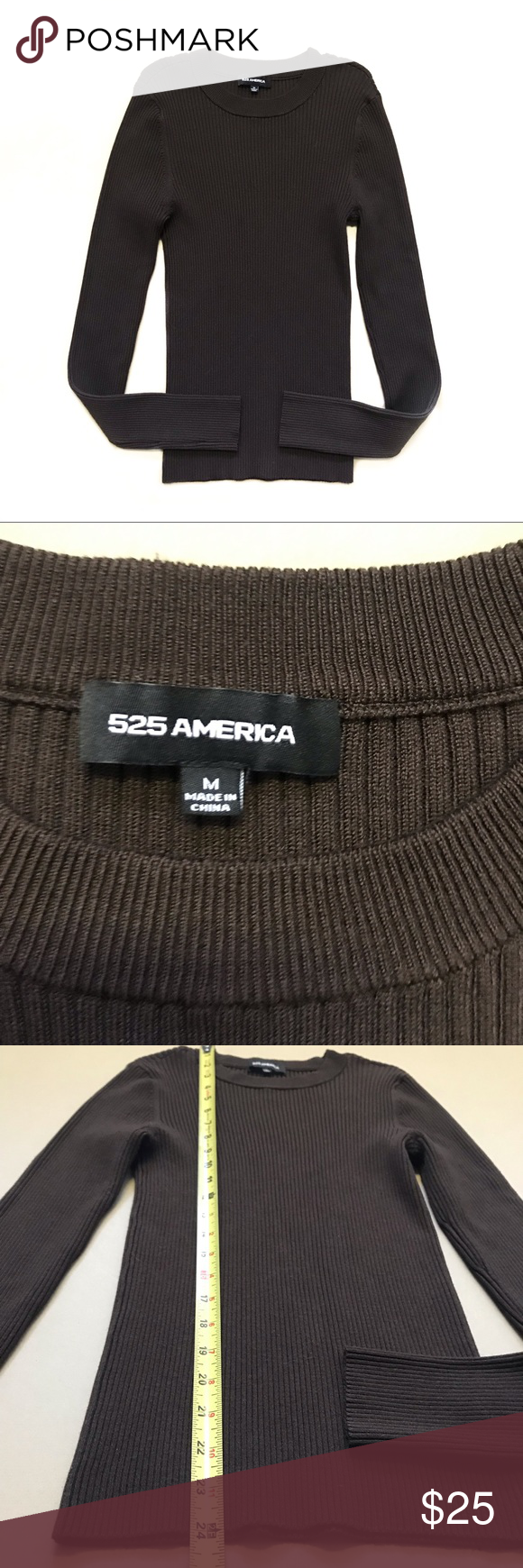 525 America Ribbed Crew Neck Signature Stretch Top in 2020 ...