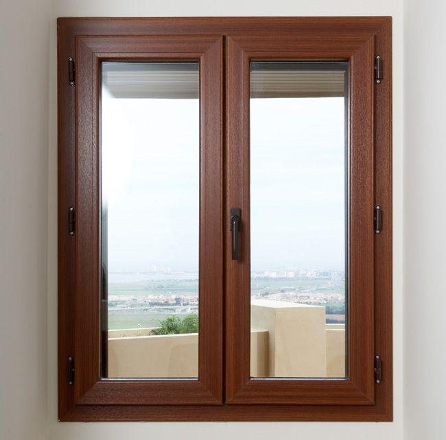 Ventana ventana de pvc sistema practicable for Ventanas de aluminio con marco de madera