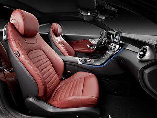 Mercedes Benz C Klasse Coupe C 300 Selenit Grau Leder Cranberry