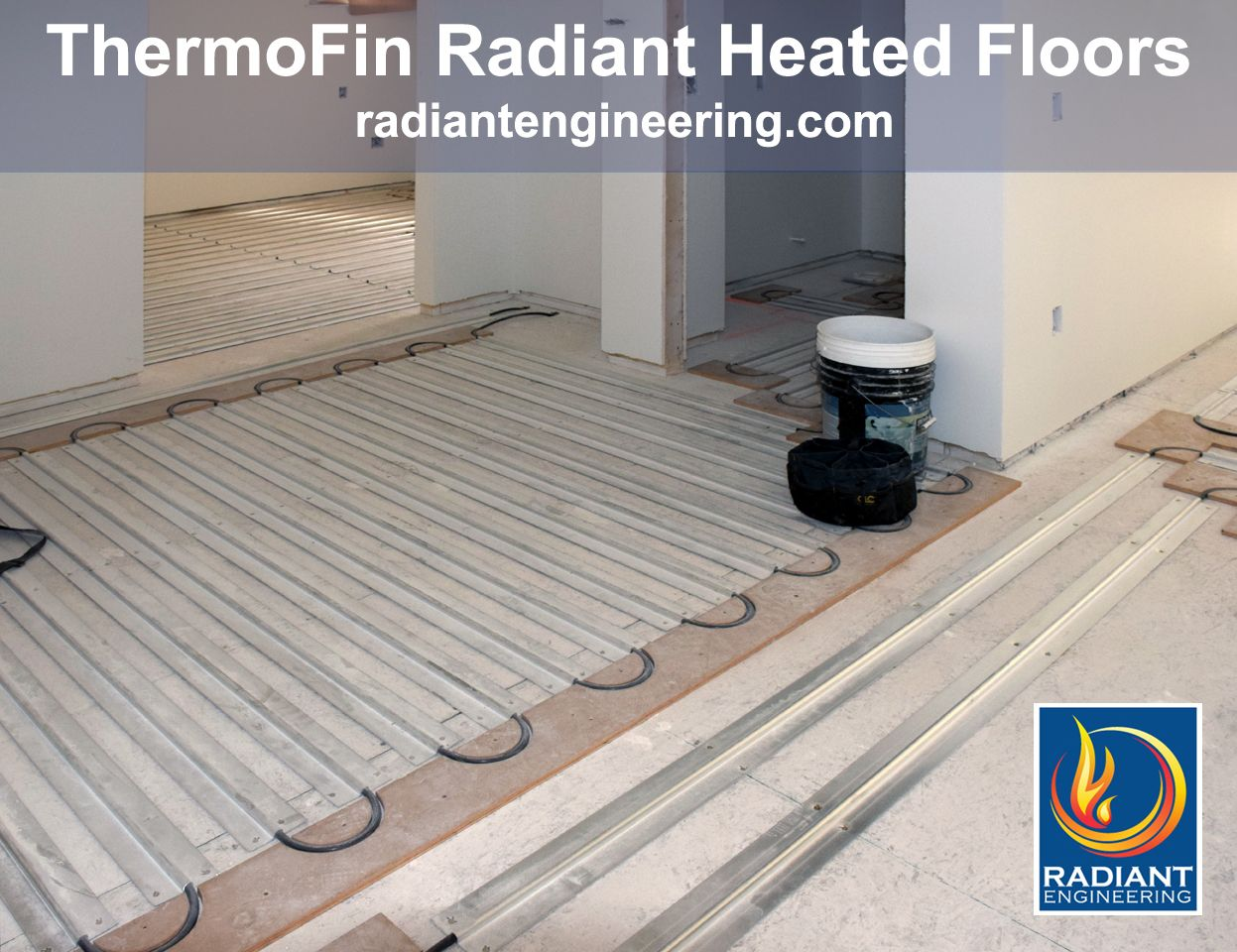 Radiant floor heating with thermofin extruded aluminum heat radiant floor heating with thermofin extruded aluminum heat transfer plates patented by radiant engineering inc dailygadgetfo Image collections