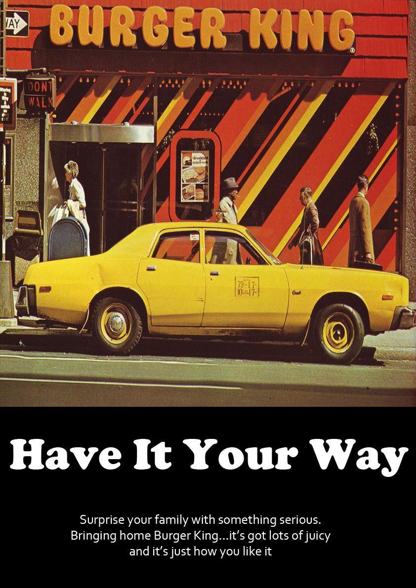70s Burger King Ad