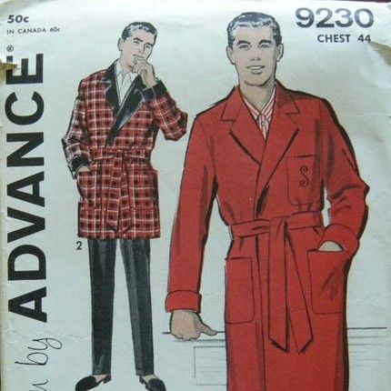 Smoking Jacket Patterns