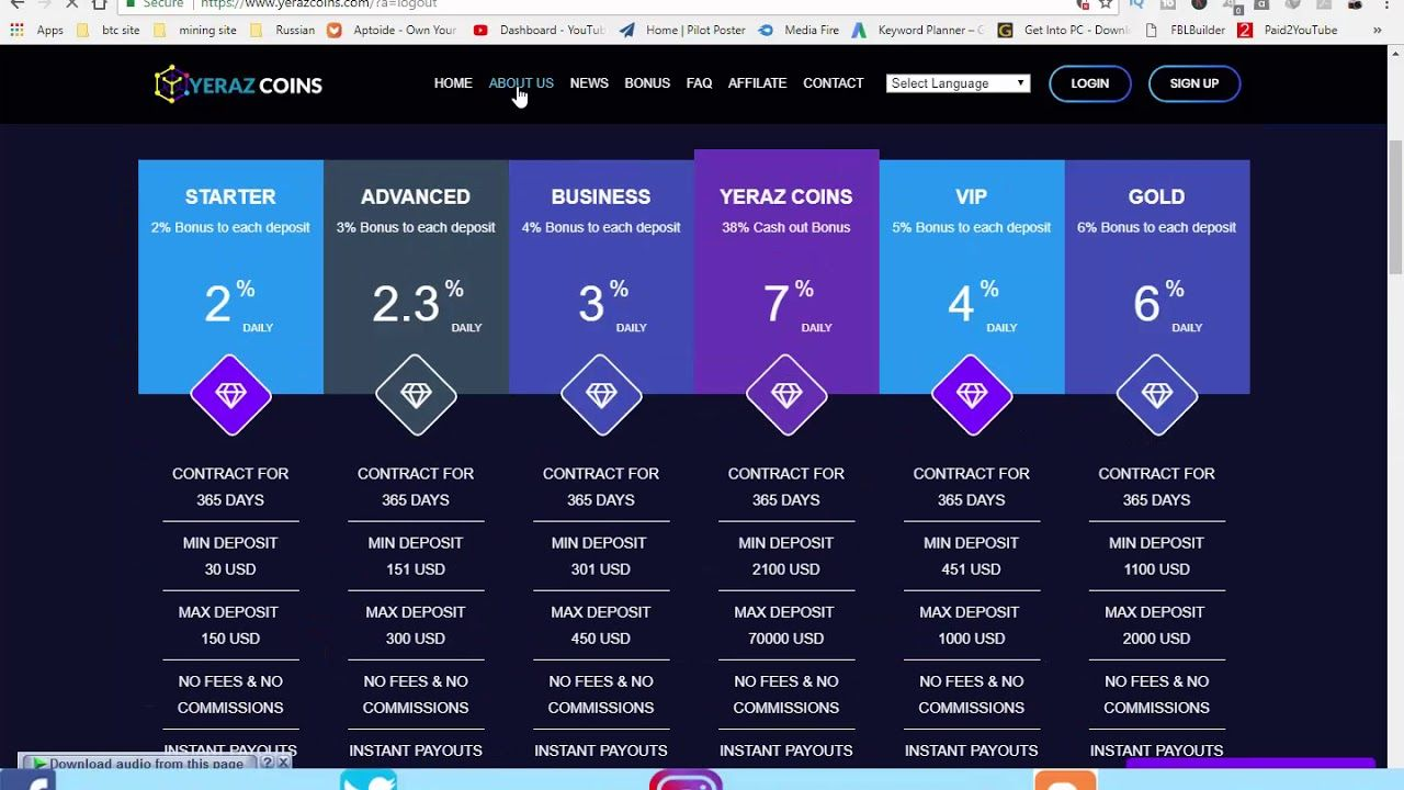Best Free Cloud mining fast site with 300$ sign up bonus