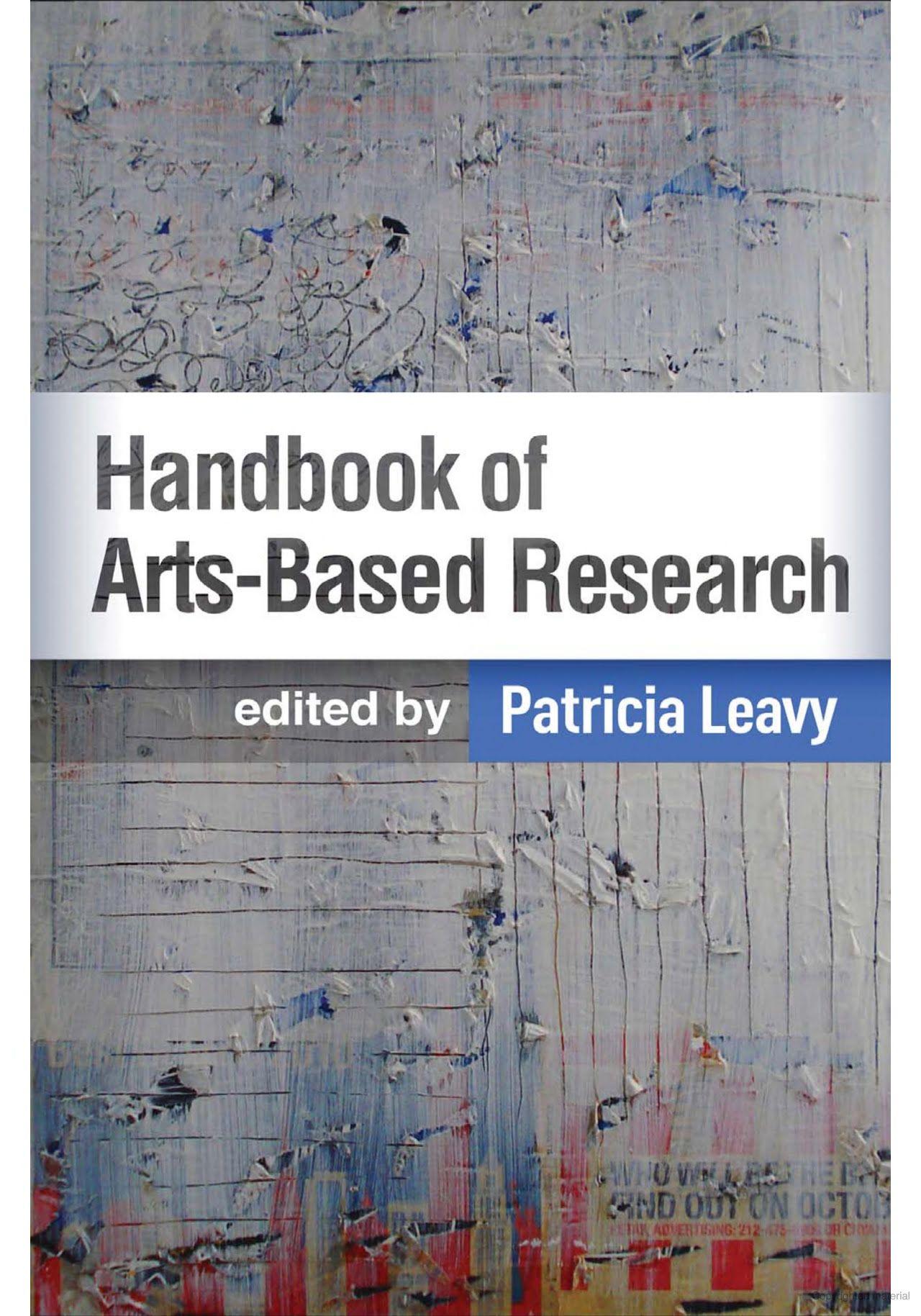 Handbook of artsbased research google books creative